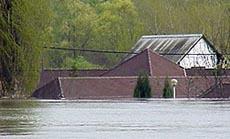 ház víz alatt