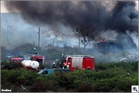 A törökbálinti robbanás képei (Fotó: Barakonyi Szabolcs)