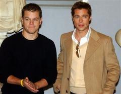 Matt Damon és Brad Pitt Rómában