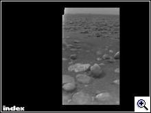Jégtömbök a Titán felszínén