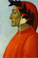 Botticelli Dante portréja (készült 1495 körül)