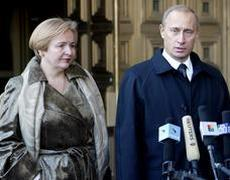 Putyin feleségével, Ludmilával