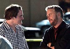 Tarantino és Petersen a forgatáson