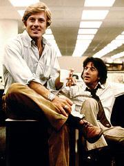 Robert Redford és Dustin Hoffman Az elnök embereiben