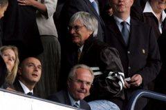 Ecclestone a hétvégén futballmeccsen járt fotó: epa