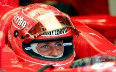 Michael Schumacher a monzai tesztelés közben