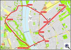 A szeptember 22-i felvonulás térképe