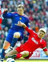 Két jelölt: Wayne Rooney és Steven Gerrard (fotó epa)
