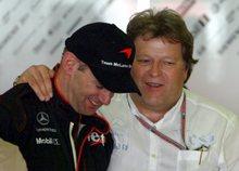 Adrian Newey (balra) volt főnökével, Norbert Hauggal (fotó: epa)