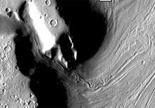 gleccserszerű képződmény a Marson