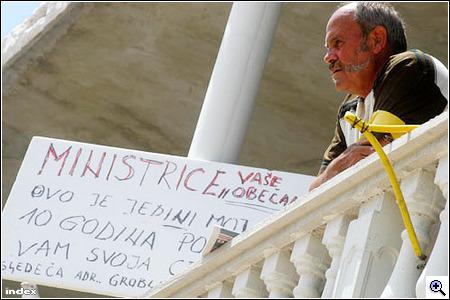 A tiltakozó horvát