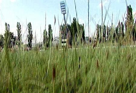 Az egykor szebb napokat látott Bozsik-stadion (Kép: TV Kispest)