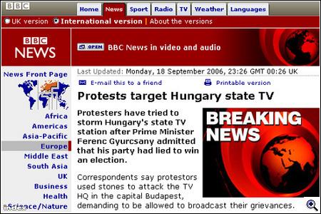 Néhány breaking news külföldi hírportálokról
