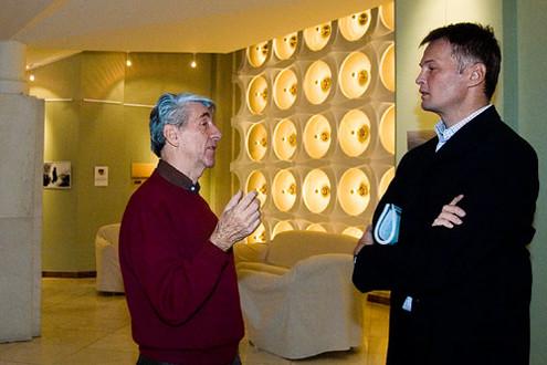 Radisics és Eifert szakmázik// Fotó: Egyed Péter, (c) 1999-2014 Index.hu