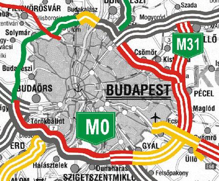 budapest körgyűrű térkép Index   Belföld   M0 s óbudai szakasz: megtalálták a megoldást? budapest körgyűrű térkép
