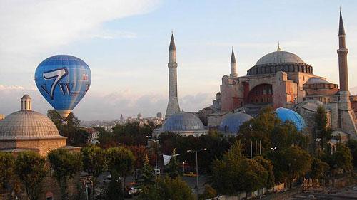 Szavazásra buzdító hőlégballon. // Fotó: --, (c) 1999-2021 Index.hu