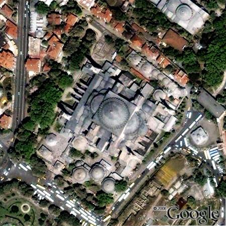 Az Aja Szofia a Google Earth-ben