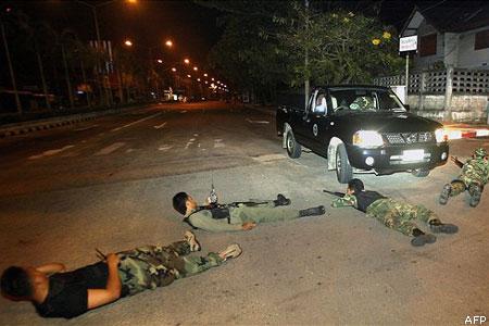 Thai rendőrök fel nem robbant bombát találtak
