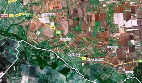 A kutatás területe (forrás: Google Map)