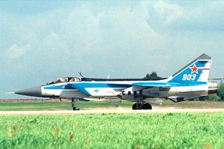 """MiG-31E """"Foxhound"""" (Forrás: testpilot.ru)"""