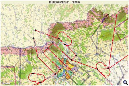 budapest légifolyosó térkép Index   Belföld   Ráeresztették a déli kerületekre a repülőforgalmat budapest légifolyosó térkép