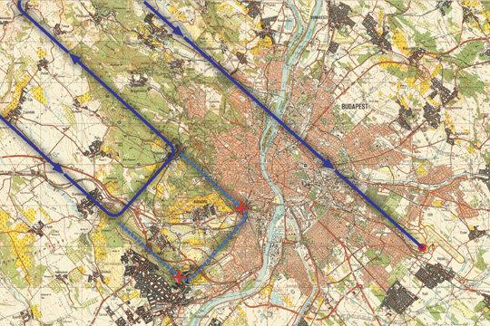 légifolyosók magyarország felett térkép Index   Belföld   Ráeresztették a déli kerületekre a repülőforgalmat légifolyosók magyarország felett térkép