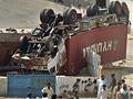 Pakisztáni felüljáró összeomlás