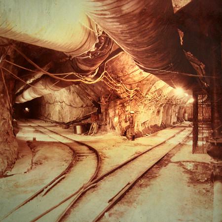 Archív kép a bánya mélyéről