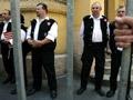 Magyar Gárda a bíróság épületénél