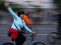 Biciklis felvonulás Budapesten