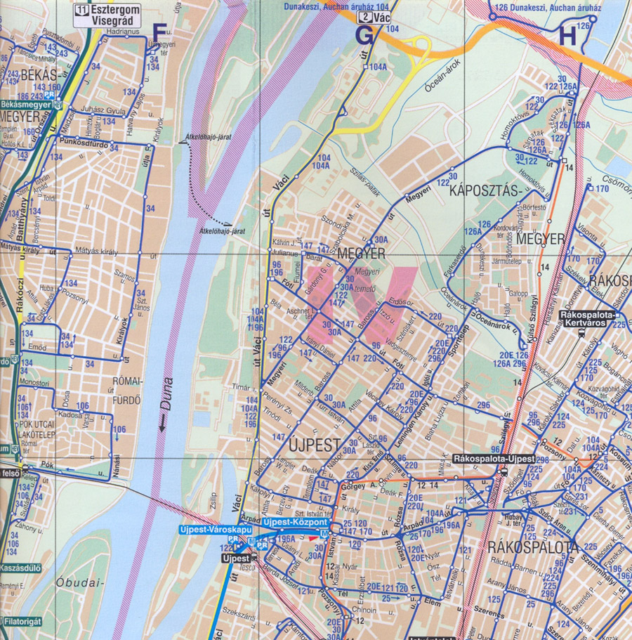 bkv vonalhálózati térkép Kicsit késett, kicsit hibás, kicsit máris elavult, de itt van a  bkv vonalhálózati térkép