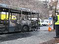 Kiégett egy 8-as busz