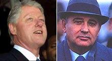 Clinton és Gorbacsov