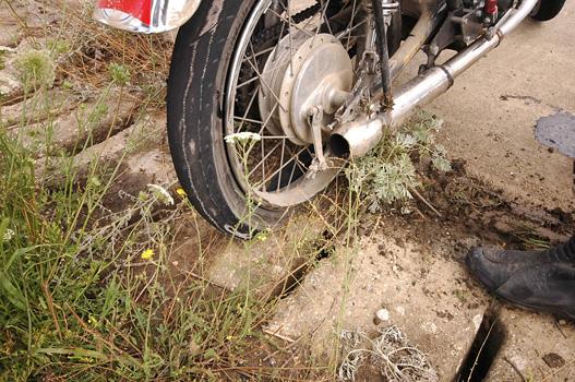 A negyedliteres Honda durrdefekt miatt bukott