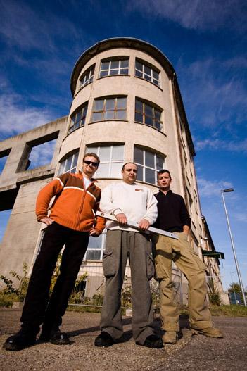 Kovács Péter designer, Vlado Kovacevic  és Gyurkovics Attila értékesítési vezető