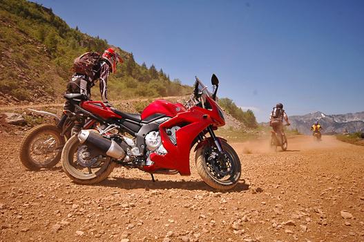 Yamaha Fazer a hegyen - tesztmotorral indultam az endurókat fotózni