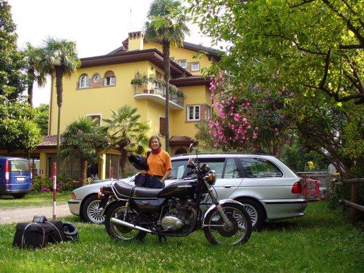 Békebeli szállásunk a Garda-tó mellett
