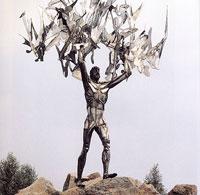 Prométheusz, Szekszárdon. Varga Imre szobrászművész alkotása