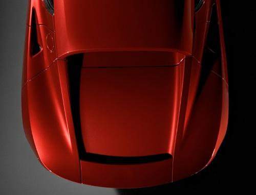 Piros Tesla Roadster fara. Forrás: Tesla Motors