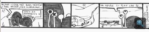 Miurás-csigás képregény. Készítette: baowah