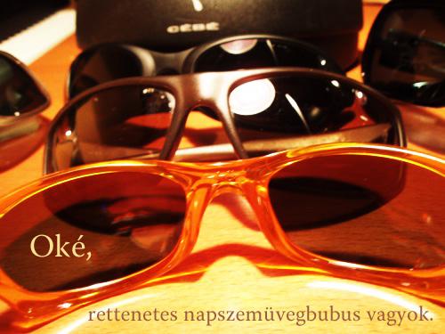 A szerző összes napszemüvege