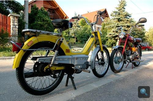 A sárga KTM és a bordó Verhovina
