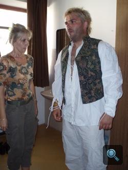 Winkler Róbert az öltözőben