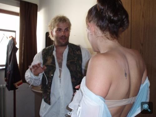 Winkler Róbert és Oroszlán Szonja az öltözőben