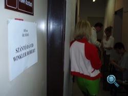 Az öltöző bejárata