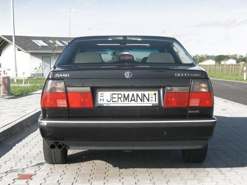 JERMANN-1 rendszámú Saab 9000
