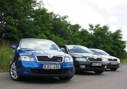 Három Škoda Octavia ugyanazzal a rendszámmal. Fotó: Rácz Tamás, manipuláció: Égő Ákos