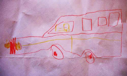 Csikós Bálint rajza egy kombiról