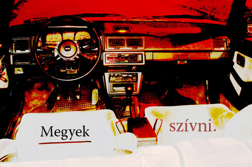 Csikós Mazda 626 GT-jének utastere