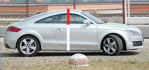 Aranymetszés második generációs Audi TT kupén